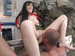 Lucianna karel and her friend getting rammed by a huge dick