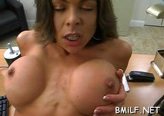 Hot slamming for a lovely milf film