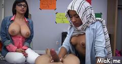 Cockriding makes arab babe cum