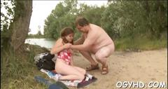 Babe licked by an old guy clip