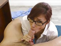 Hot employee gets sucked and fucked by jade jantzen