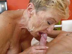 Old granny fucks the young mechanic - lusty grandmas