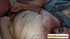 Mature inked bear facializing hairy bottom film