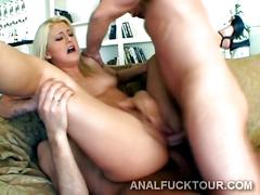 anal, ass, blonde, blowjob, hardcore, cocksucking, hot, sex, threesome