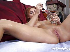 small tits, babe, redhead, solo, squirt, masturbation, piss drinking, piss fetish, wet and pissy, puffy network, morgan xx