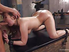 Harley jade tight pink ass demolished by a rock hard dick
