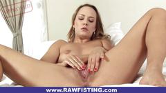Missy puts entire fist in her pussy