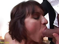 Slim milf pumped and deep anal fucked