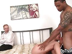 White guy watches wife fucked by hot dude