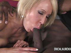 Erica lauren taking on black stud
