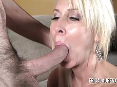 Beautiful blonde milf and hard stud