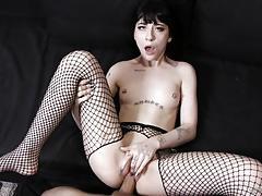 charlotte sartre, small hands, blowjob, cumshot, fishnet, camera, pov, punk, spooning, sucking, goth