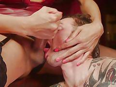 shemale, domination, face fuck, foot fetish, interracial, asian, babe, slave, tattooed, ts seduction, kink, yasmin lee, will havoc