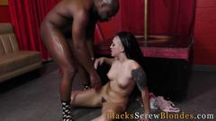 Slut rides black dicks big cock