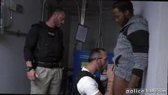 Free xxx gay sex police and black cop movie purse thief becomes culo meat