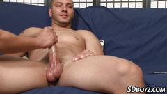 Amateur gay latin handjob