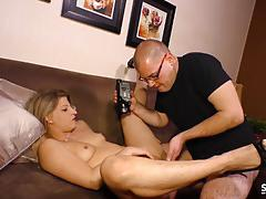 Blonde german amateur fucks on cam