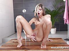 blonde, pissing, skinny, masturbation, fingering, piss fetish, wet and pissy, puffy network, gina gerson