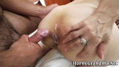granny, hardcore, mature, anal, creampie, fingering, toy