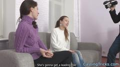 casting, teen, threesome