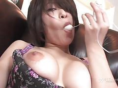 41ticket - saki ootsuka plays with her tight pussyhole