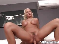 Blonde babe kenzie taylor first time anal fucking!