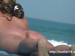Nude beach voyeur shoots a hot babe with a hidden cam
