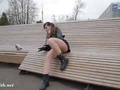 Jeny smith seamless pantyhose public upskirt