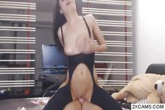 Naughty couple enjoy webcam wild fucking