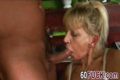 Young stud banging horny mature slut