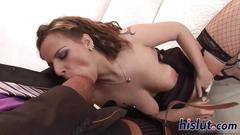 Massive black cock for a brunette bint