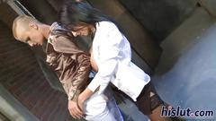 Intense lesbian action with two hot floozies