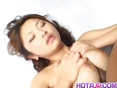 asian, tits, fingering, kissing, big boobs, pussy licking, uniform, cock sucking, ass licking, hairy pussy, black stockings