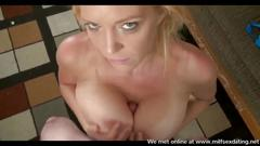 Milf from milfsexdating net gives a hot pov blowjob