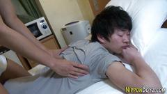 Japanese twink spunked hot