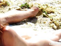 Beach spy voyeur hidden cam video