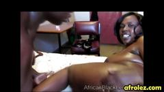 Chubby african lesbians faida and kali oil their bodies and fuck using sex toys