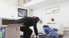 Salesman fucking hot latina wife
