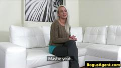 Casted euro amateur pussyfucked on couch feature