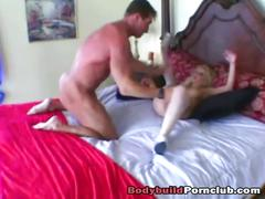 Vivian west getting fucked by a muscular stud after masturbating