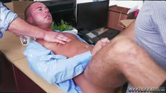 Handsome gay man gets assfucked so hard in the office