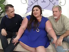 Fatty gets both holes double penetrated