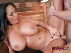 Chesty babe ava addams gets impaled by lover