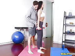milf, facesitting, round ass, blowjob, pussy licking, brunette, big dick, pick up, gym instructor, milf hunter, reality kings, india summer, brad knight