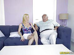 Super sexy blonde milf enjoying a big dick