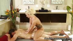 Wam masseuse booty jizz