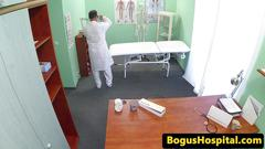 Cocksucking euro patient riding doctors dick