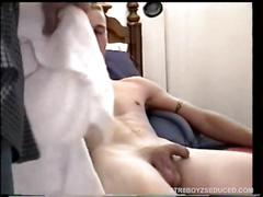 Straight boy jason cums twice segment