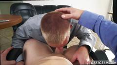 Hot hung young gay twinks blowjobs keeping the boss happy