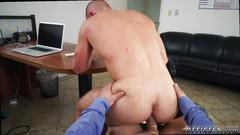 Boy beautiful gay sex hot keeping the boss happy